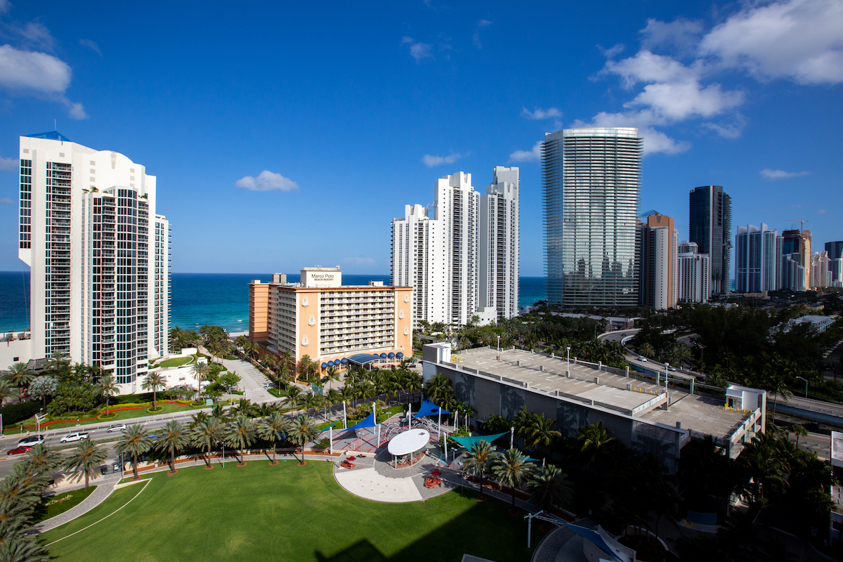 Aerial view of Heritage Park in Sunny Isles Beach.