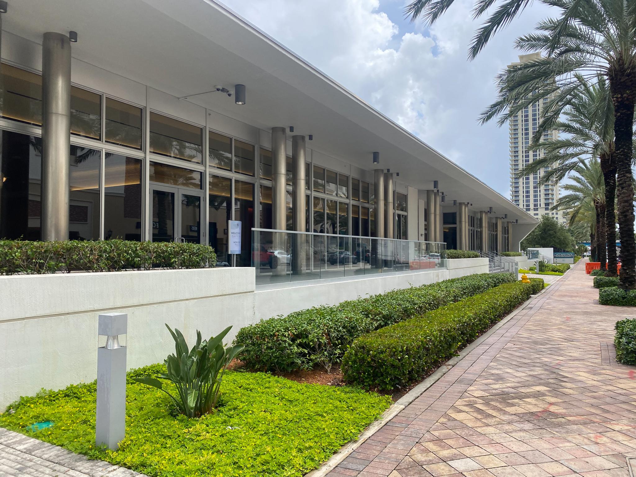 Exterior of Gateway Center from sidewalk