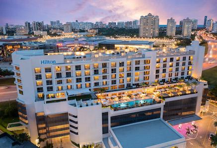 Aerial view of Hilton Aventura Miami