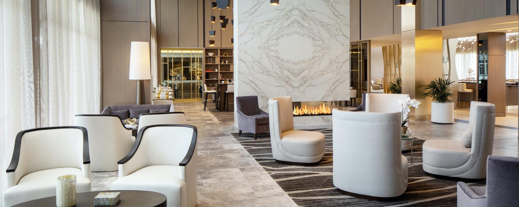 Lobby at the Hilton Aventura Miami