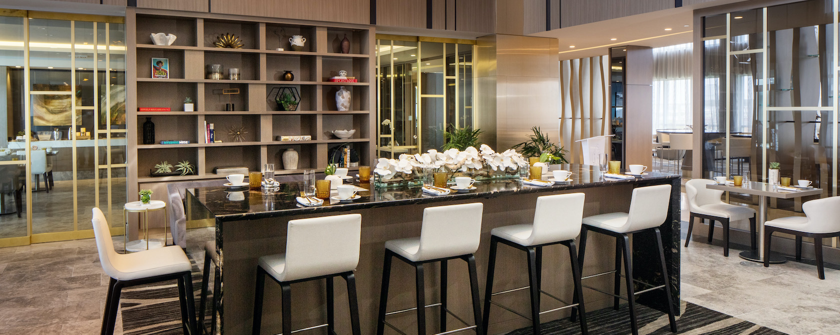 Dining room at the Hilton Aventura Miami